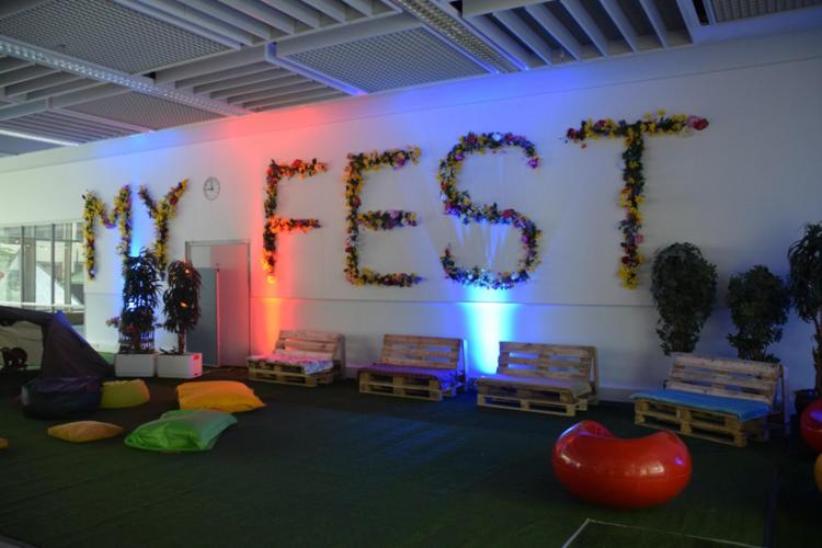 Suunnittelemassa Myyrmäen tulevaisuutta: M.Y. Fest ja LEPO-lounge (by: Frida & Sampo)