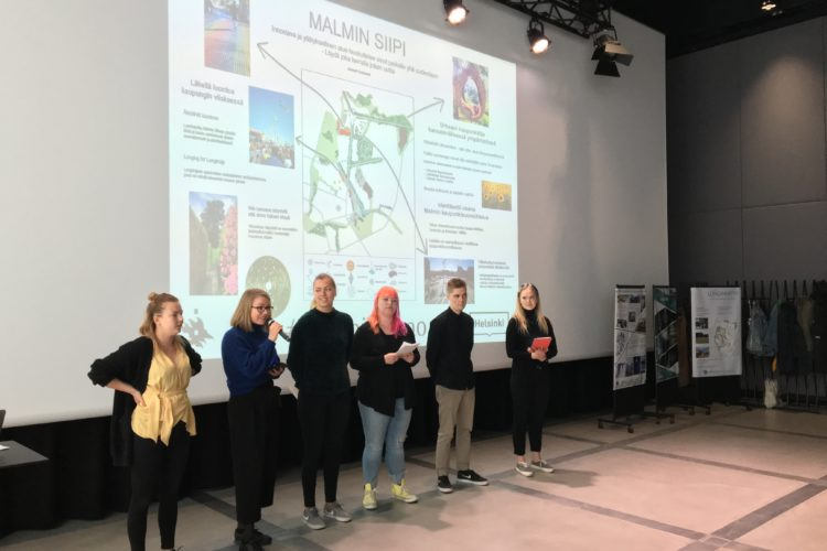 Maantieteen projektiharjoitustyökurssi #MalminLumo kehitti tilapäiskäyttökonsepteja Malmin lentokentän alueelle